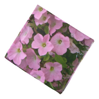 Hanging Basket of Pink Flowers Bandana