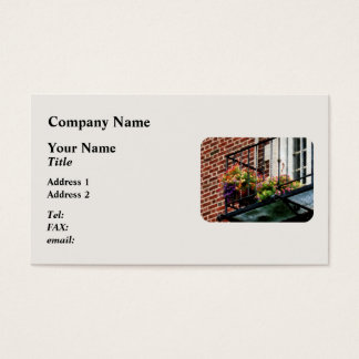 Hanging Basket on Fire Escape Business Card