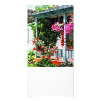 Hanging Baskets and Climbing Roses Photo Cards