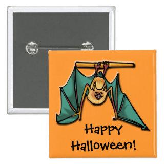 Hanging Bat Pinback Button
