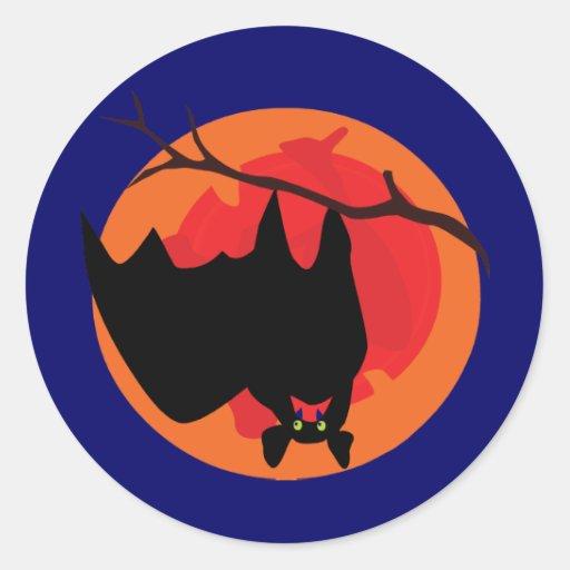 Hanging Bat Stickers/Envelope Seals Round Sticker
