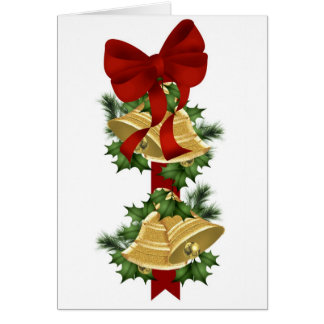 Hanging Bells Christmas Card