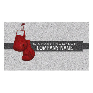 Hanging Boxing Gloves Grain Effect Pack Of Standard Business Cards