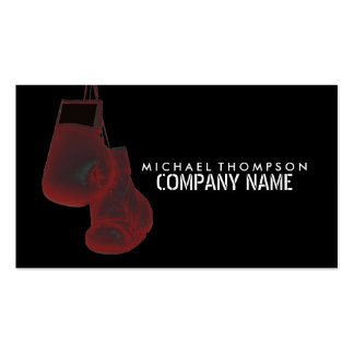 Hanging Boxing Gloves Solarize Effect Pack Of Standard Business Cards
