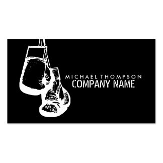 Hanging Boxing Gloves Stamp Effect Pack Of Standard Business Cards