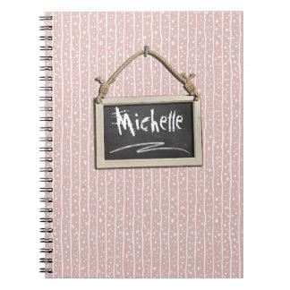 Hanging Chalkboard Pink ID397 Notebook