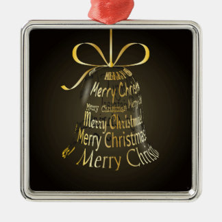 "Hanging Christmas Bell Made Of ""Merry Christmas"" Christmas Ornament"