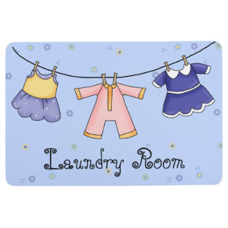 Hanging Clothes Laundry Floor Mat