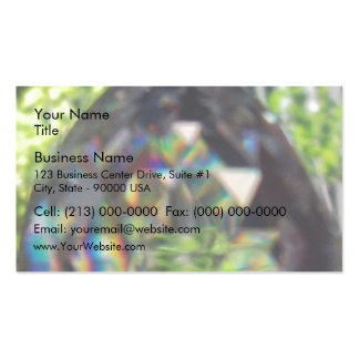 Hanging crystal business card templates