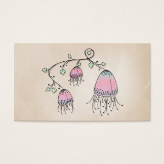 Hanging Doodle Flowers Business Card