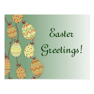 Hanging Easter Eggs Postcard