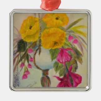 hanging flowers.jpg Silver-Colored square decoration