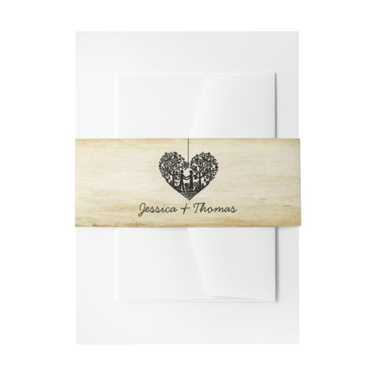 Hanging Heart Tree Vintage Wedding Collection Invitation Belly