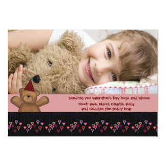 Hanging Hearts Photo Card Custom Announcements