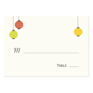 Hanging Lanterns Wedding Place Cards Pack Of Chubby Business Cards