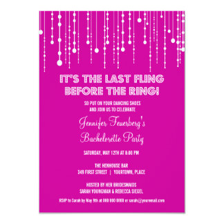 Hanging Lights Bachelorette Party Invitation