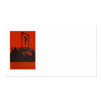 Hanging Man Gallows Black Comedy Humor Pack Of Standard Business Cards