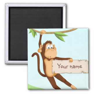 Hanging monkey magnet