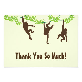 Hanging Monkey Thank You Card