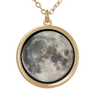 Hanging Moon Neckless Gold Plated Necklace