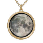 Hanging Moon Neckless Round Pendant Necklace