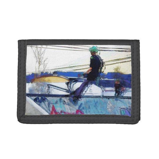 Hanging On - Stunt Scooter Artwork Tri-fold Wallets