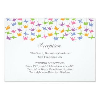 Hanging Origami Paper Cranes Wedding Insert 9 Cm X 13 Cm Invitation Card