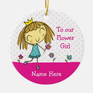♥ HANGING ORNAMENT Flower Girl thank you princess
