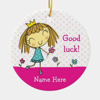 ♥ HANGING ORNAMENT ♥ Good luck pink present gift