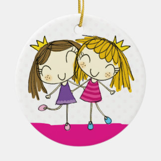♥ HANGING ORNAMENT ♥ princess pink polka dot