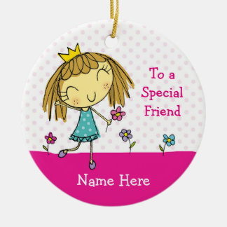♥ HANGING ORNAMENT ♥ Special Friend princess pink