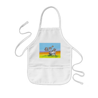 Hanging out kids apron