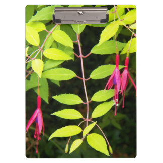 Hanging Pink Fuchsia Floral Clipboard
