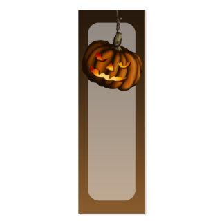 Hanging Pumpkin, bookmark pack or business cards