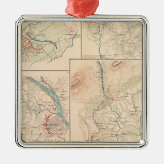 Hanging Rock Monocacy Silver-Colored Square Decoration