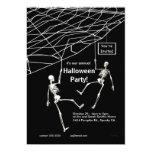 Hanging Skeletons Halloween Party Custom Invite