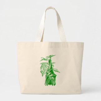 Hanging Sleeping Bat (Neon Green Version) Bags