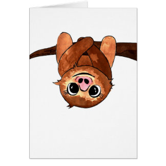 Hanging sloth card