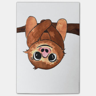 Hanging sloth post-it notes