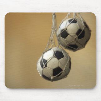 Hanging Soccer Balls Mouse Mat