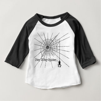 Hanging Spider in a web Gothic Halloween Baby T-Shirt