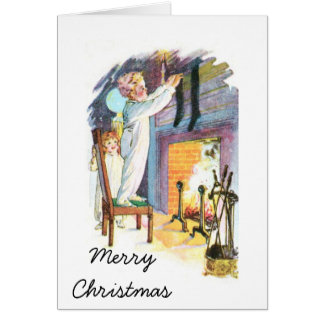 Hanging Stockings Greeting Cards