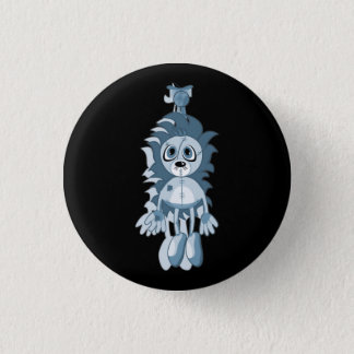 Hanging Teddy Blue 3 Cm Round Badge