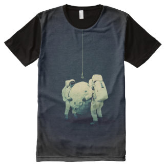 hanging the moon All-Over print T-Shirt