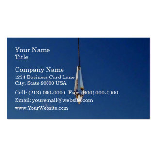 Hanging window crystal business card templates