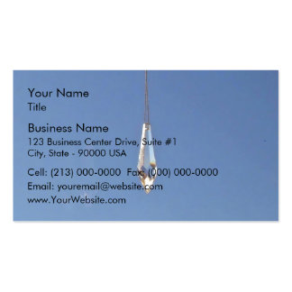 Hanging window crystal business card template