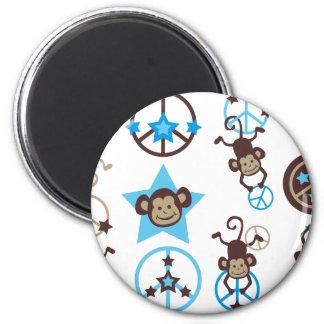HangingMonkey1 6 Cm Round Magnet