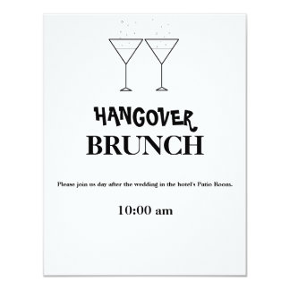 """Hangover Brunch"" Invitations"