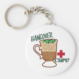 Hangover Cure Basic Round Button Key Ring