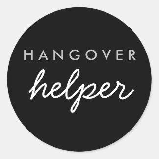 Hangover Helper Wedding Bachelorette Favour Classic Round Sticker